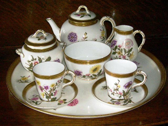 ロイヤルウースター(Royal Worcester) Tea Set(トレー付) アンティーク 食器 カップ&ソーサー他