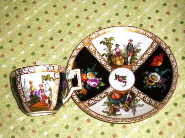 チョコレートカップ  マイセン・ドレスデン アンティーク マイセン・ドレスデン コレクション