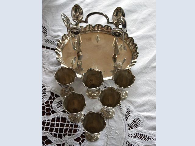 エッグスタンド&スプーン セット 6 アンティーク 銀・銅製品ほか