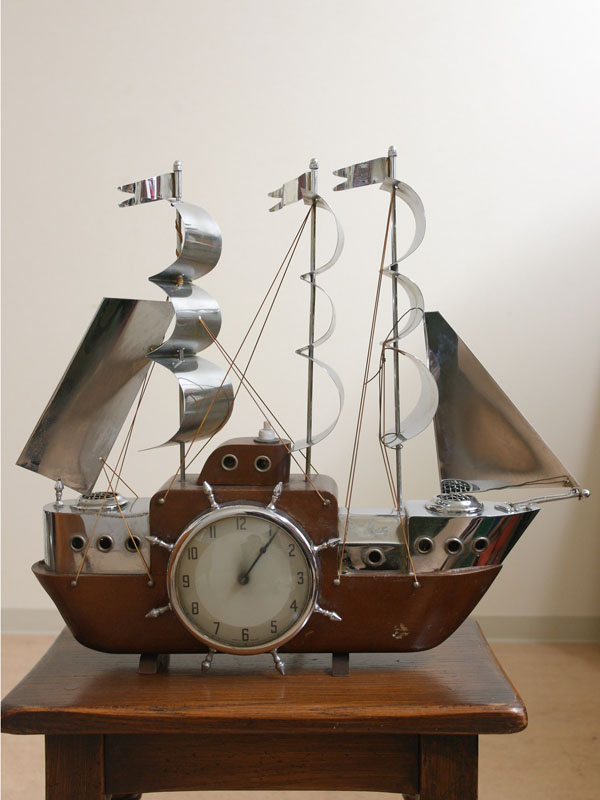 時計 ヨット 電気付 アンティーク 時計
