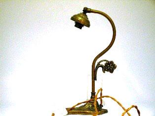 ランプ スタンド 真鋳 221-167 とペア アンティーク ランプ用ブラケット(テーブル・ウォール用等)
