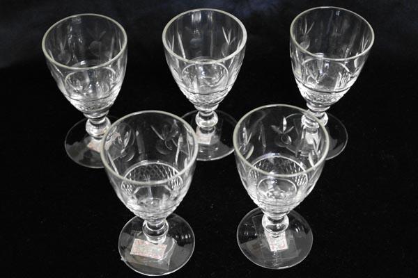 グラス 5客セット (84,85,86,87、88) アンティーク クリアー系