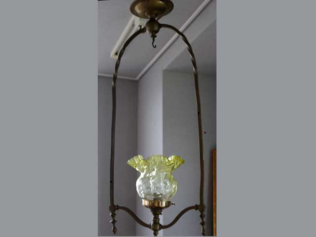 ランプセット(385シェード含む) アンティーク ランプ(すでに組み合わせられている照明)