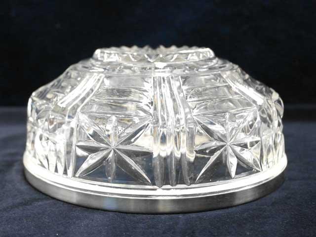 サラダボール(小) モールドガラス アンティーク クリアー系