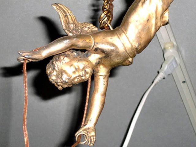 エンジェル 1灯 ランプ(バラシェード付き) アンティーク シャンデリア・ハンギングランプ