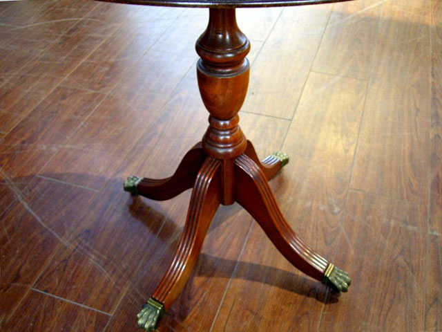 引き出し付ラウンドテーブル アンティーク テーブル・ダイニングセット