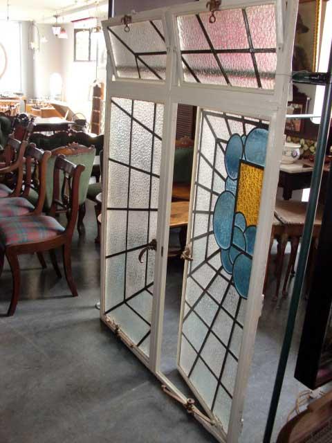 ステンド ウィンドウ セット アンティーク ステンドグラス