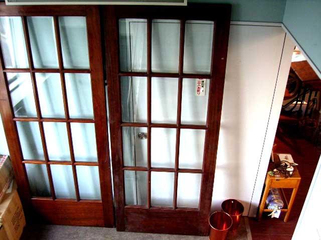 ドア(ガラス)1枚 アンティーク ドア