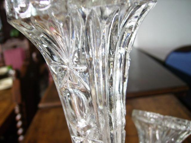 バーズ(花器) カットガラス アンティーク クリアー系