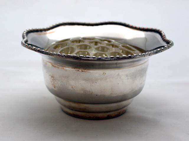 バーズ(花器)(アレンジメント用) シルバープレート アンティーク 銀・銅製品ほか