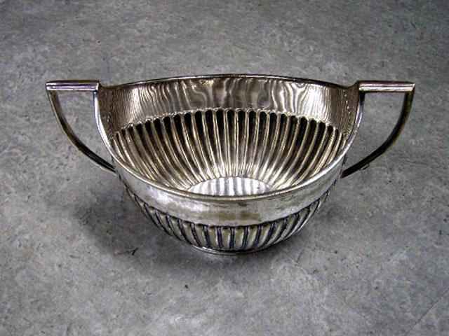 シルバープレート シュガーポット(小) アンティーク 銀・銅製品ほか