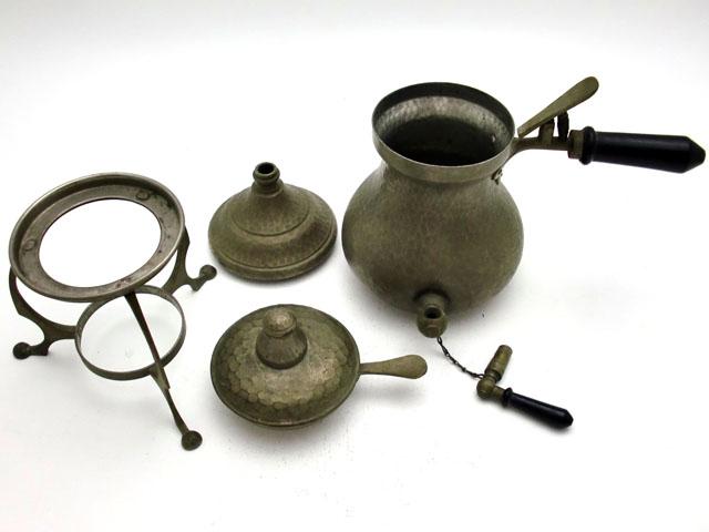 コーヒーメーカー アンティーク 銀・銅製品ほか