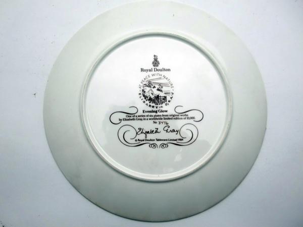 ロイヤルドルトン(Royal Doulton) 飾り皿 Elizabeth Gray アンティーク 飾り用プレート
