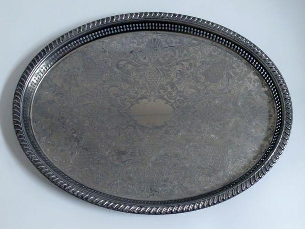 シルバープレート トレー アンティーク 銀・銅製品ほか