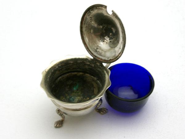 シルバー マスタード入れ アンティーク 銀・銅製品ほか