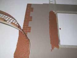 ドールハウス用外壁材 マスキング外し3