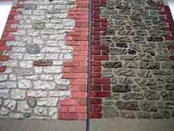 ドールハウス用外壁材 仕上げ