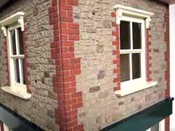 ドールハウス用外壁材 2色4