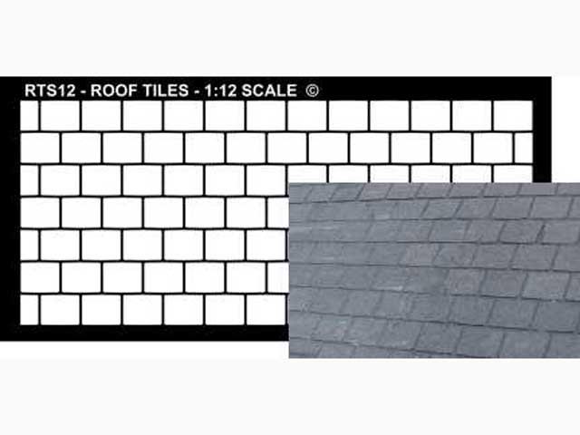 ドールハウス用外壁ステンシル 屋根タイル
