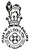 ロイヤルドルトン バックスタンプ1922-1956