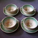 スージークーパー ドレスデンスプレイ スープカップ(1)(2)(3)(4) 4客セット 75000円