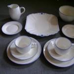 シェリー トリオ2客+シュガーボール+ミルクジャー+ケーキ皿+ソーサー(小)2枚