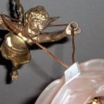 アンティーク ランプ エンジェル 1灯 (バラシェード付き)