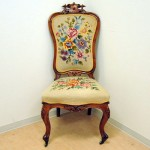 アンティーク パーラー(サロン) チェア/椅子 刺繍(NeedlePoint)