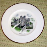 ウェッジウッド(Wedgewood) プレート 「Watercolours of castle and country houses by David Gentleman」シリーズ(Caerphilly Casle)