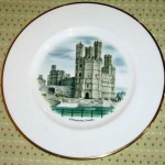 ウェッジウッド(Wedgewood) プレート 「Watercolours of castle and country houses by David Gentleman」シリーズ(Caernavon Casle)