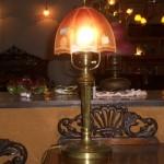 アンティーク ランプ&シェード スタンド 真鋳