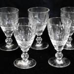 アンティーク キー・パターン グラス 5客セット
