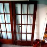 アンティーク マホガニー ドア(ガラス12枚入り)1枚