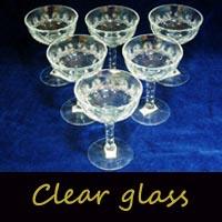 アンティーク ガラス クリアー系