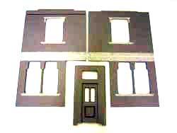 ドールハウスの部品 塗装後