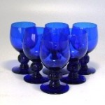 グラス シェリーグラス ブルー 小(6個)セット
