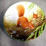 ロイヤル ドルトン ウォールプレート Red Squirrels on Branch 新品未使用 箱付き シリアルナンバー入り