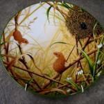 ロイヤル ドルトン ウォールプレート  Harvest Mice at their Nest 新品未使用 箱付き シリアルナンバー入り