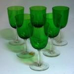 ワイングラス グリーン 6個セット