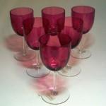 ワイングラス クランベリー 6個セット