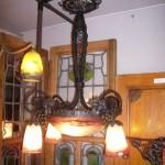 アールヌーボー様式 ハンギングランプ 大1灯+小4灯 デュゲ