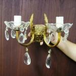 ウォールランプ クリスタル 2灯 1個 59800円