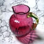 アンティーク クランベリーガラス ピッチャー