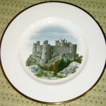 ウェッジウッド(Wedgewood) プレート 「Watercolours of castle and country houses by David Gentleman」シリーズ(Harlech Castle)